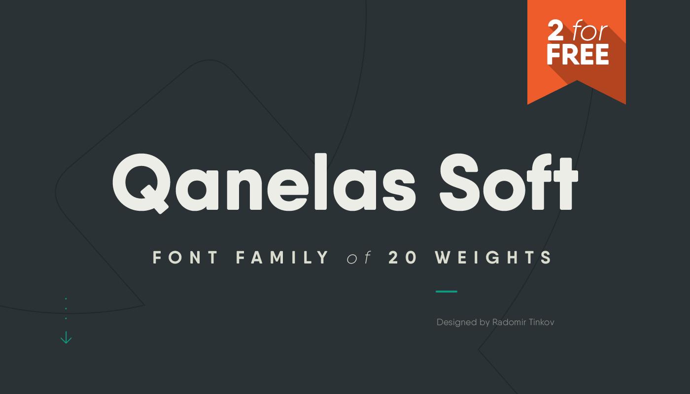 Qanelas Soft Free Font / Tinkov